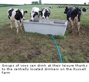 Where do you place your drinking troughs?
